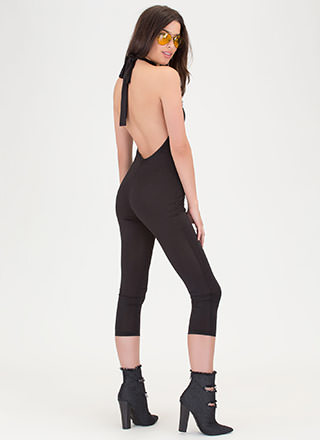 Show Me The Honey Halter Jumpsuit