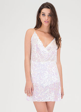 Shine Up Sparkly Mesh Mini Dress