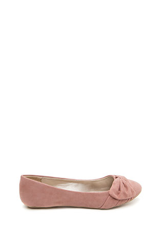 Knot Just Some Faux Suede Ballet Flats