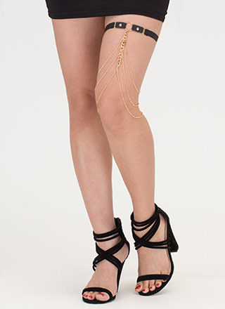 Ring Leader Draped Garter Thigh Chain