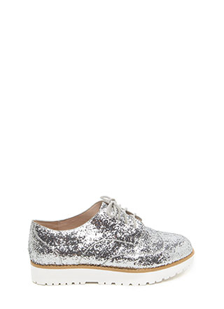 Pick Of The Glitter Platform Oxfords