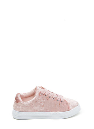 Feel Crushed Velvet Platform Sneakers