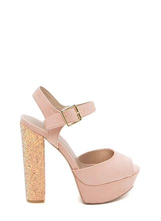 Go With Glitter Chunky Platform Heels