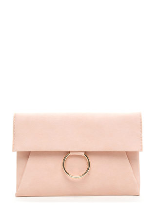 Ring It Up Flat Faux Leather Clutch