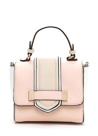 Chic For Me Faux Leather Contrast Bag