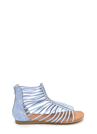The Skinny Scalloped Gladiator Sandals