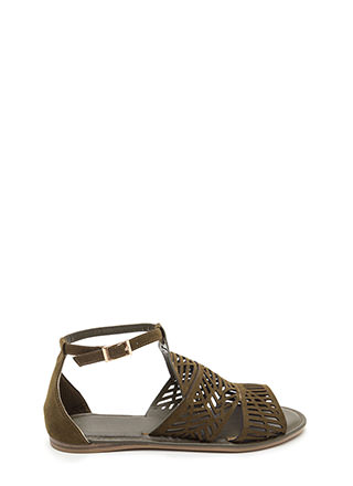 Make The Cut-Out Faux Suede Sandals