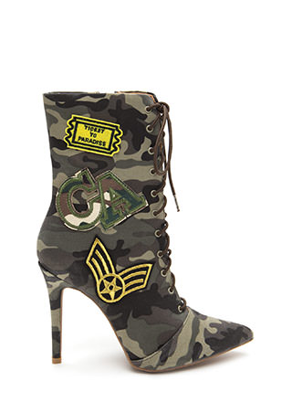 Command Center Camo Patch Booties