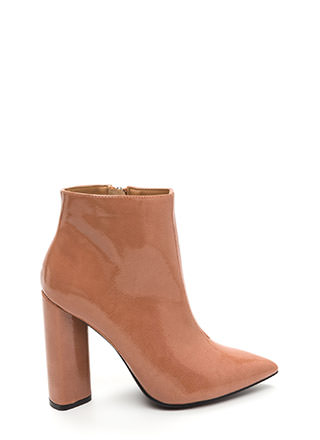 Sleek In Pointy Chunky Booties