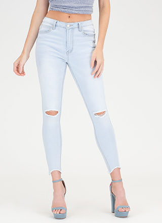Dream Of Jean-ie Slit Distressed Jeans