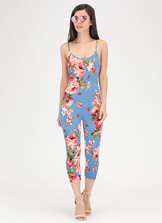 Floral Fixation Cropped Jumpsuit