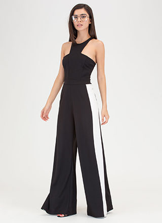Racer To The Finish Palazzo Jumpsuit