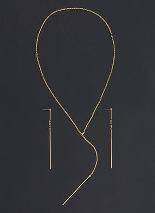 Bar Exam Lariat Y-Necklace Set
