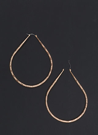Twist Of Fate Shiny Hoop Earrings