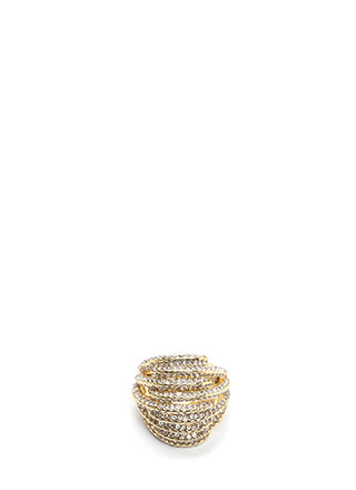 Stack Up Chunky Jeweled Stretchy Ring