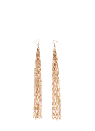 Takes Two To Tassel Chain Earrings