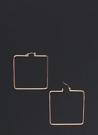 Modern Romance Oversized Square Earrings