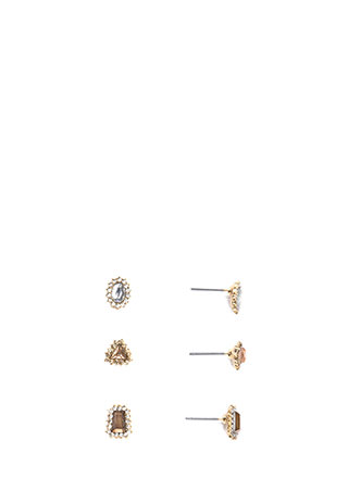 Daytime Sparkle Faux Jewel Earring Set
