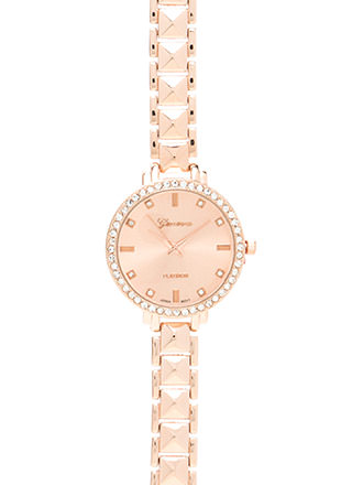 Pyramid Trip Rhinestone Boyfriend Watch