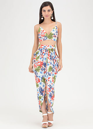Tropical Thunder Floral Two-Piece Dress