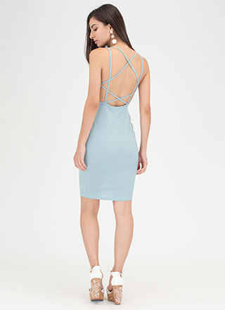 Star Style Strappy Caged Mini Dress