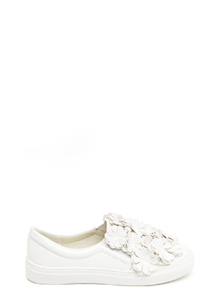 Floral Flow Smooth Slip-On Sneakers