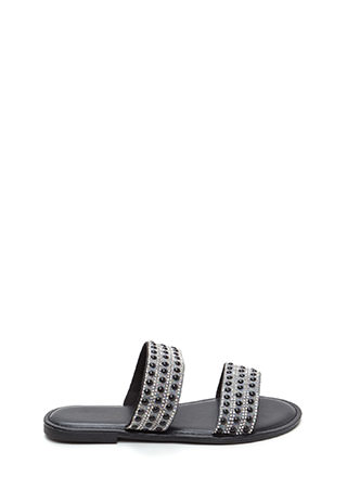 Double The Luxury Strappy Slide Sandals