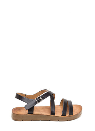 Next Adventure Caged Strappy Sandals