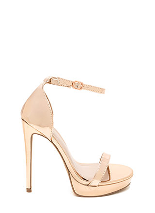 Chic 'N Simple Strappy Metallic Heels
