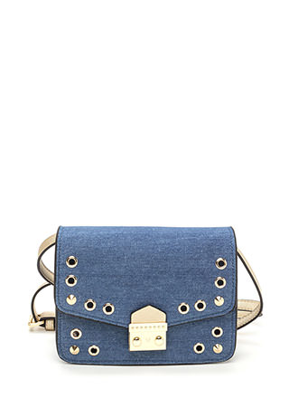 New Hardware Denim Crossbody Bag