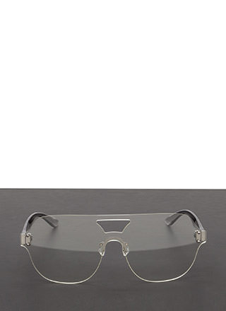 Flight School Frameless Cut-Out Glasses