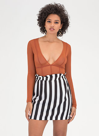 Signature Stripes Contrast Skirt
