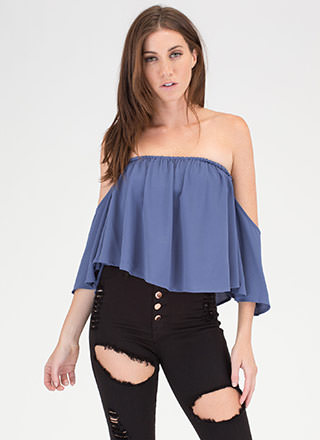 It's A Breeze Off-Shoulder Crop Top