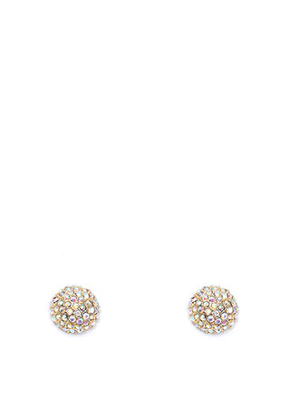 Sparkle And Shine Dome Earrings