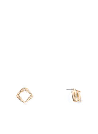 Spring In Your Square Wire Earrings