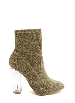 Time To Shine Clear Chunky Booties