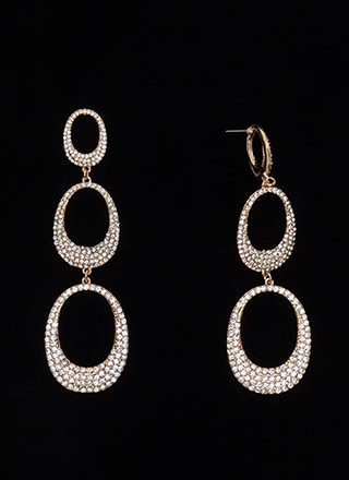 Good Eggs Rhinestone Ring Earrings