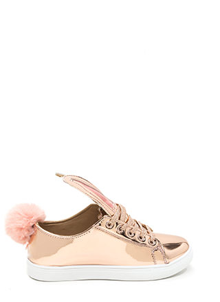Hop Along Metallic Bunny Sneakers