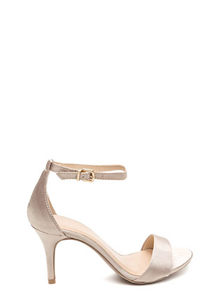 Smooth Operator Strappy Satin Heels