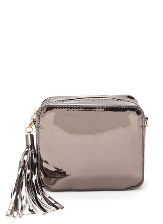Sweet Gleams Square Metallic Bag