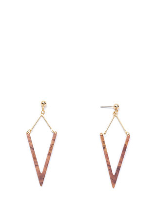 Heavenly Angle Faux Stone Earrings