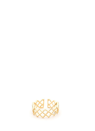Jagged Edge Cut-Out Zigzag Ring