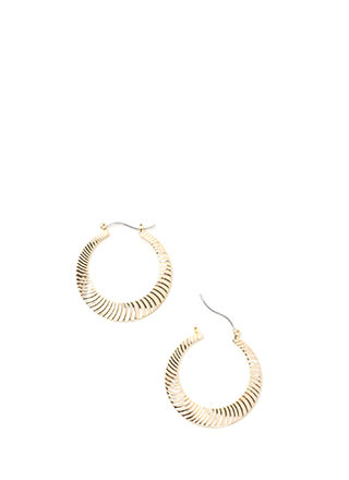 Play Both Sides Ridged Hoop Earrings