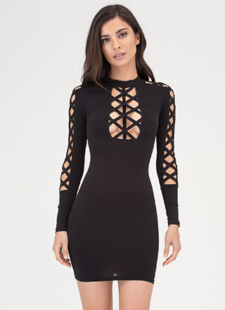 X Woman Strappy Cut-Out Caged Dress