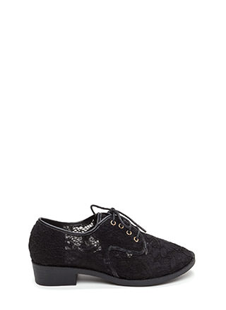 Lost In Lace Chunky Oxford Flats