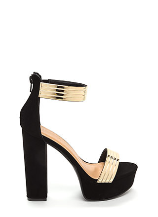 Top Of The World Shiny Faux Nubuck Heels