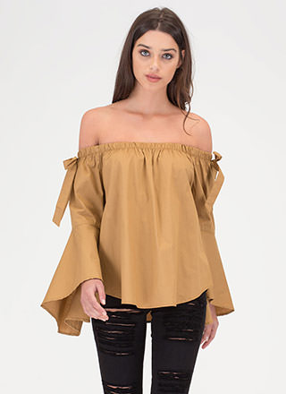 Bow For It Off-Shoulder Swing Top