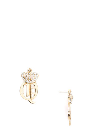 Crowning Achievement Rhinestone Earrings