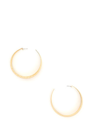 By Design Brushed Hoop Earrings