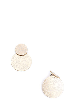 Speck Of Truth Double Disc Earrings